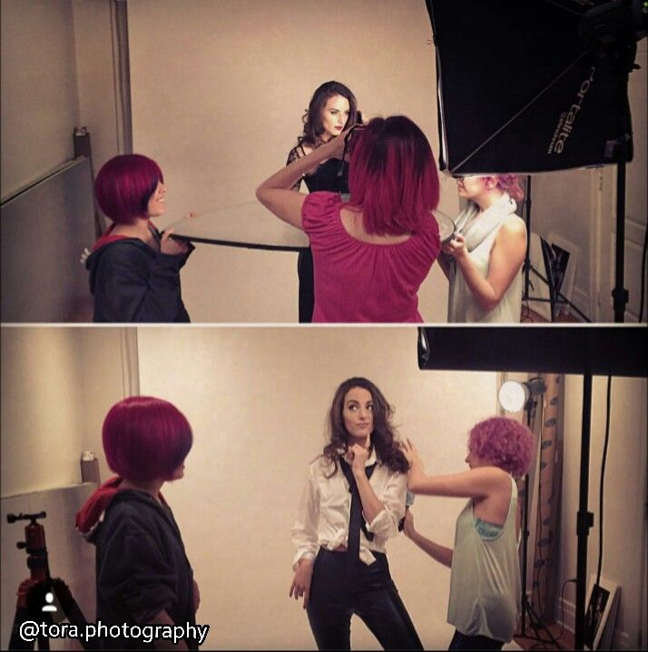 lights, camera, action! behind the scenes of a fun fashion portrait photoshoot for model Sarah Chinerman @_saray Photographer: @toraphotography  Stylist: Ashley Hirsh @hirshy_kisses Hair: Linda @novaflares