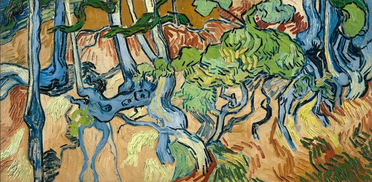Art of the Day: Van Gogh, Tree Roots, July 1890. Oil on canvas, 50 x 100 cm. Van Gogh Museum, Amsterdam.