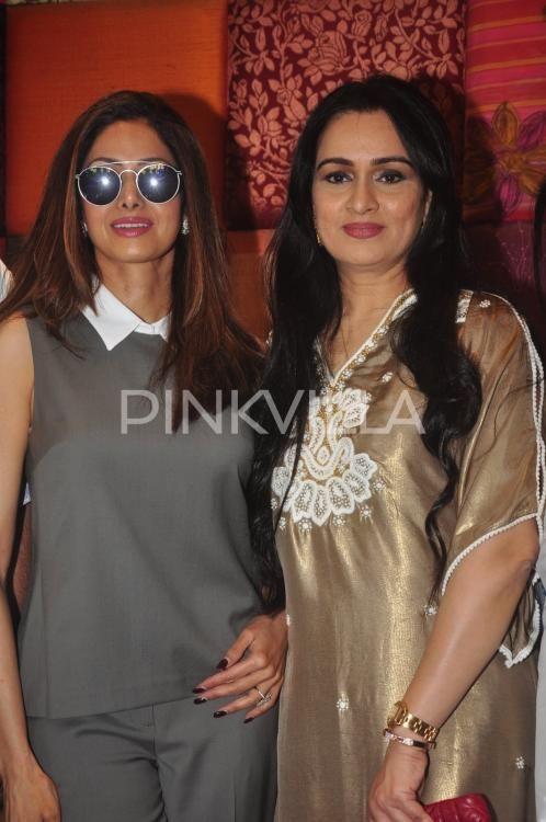 Sridevi, Jackie Shroff snapped at Padmini Kolhapure's store launch | PINKVILLA
