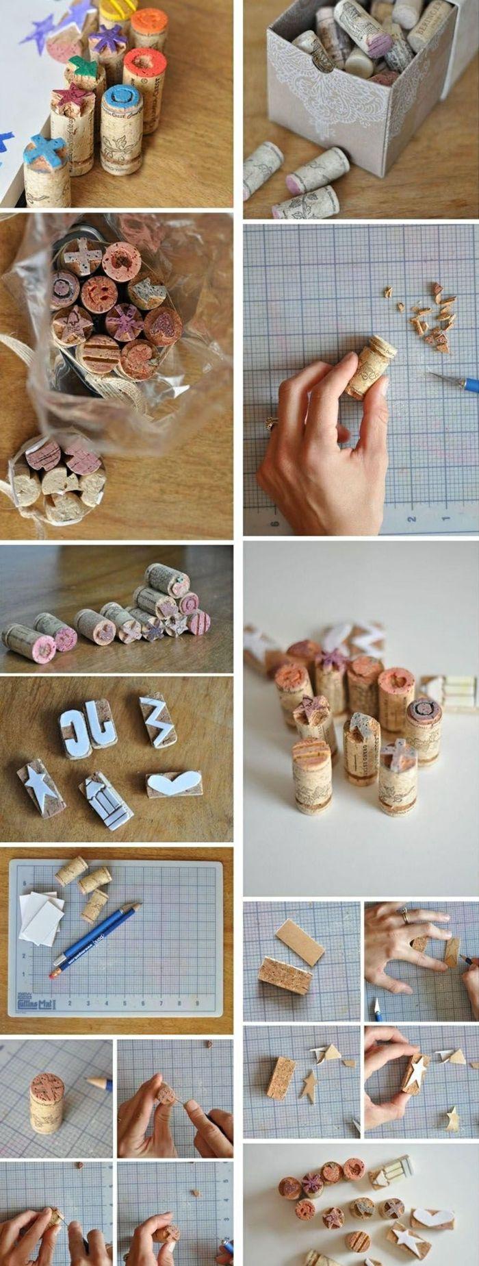 stempel selber machen, farbe, box, papier, bleistift, cutter