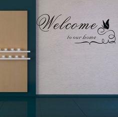 TRURENDI Welcome to Our Home Sticker Mural en vinyle Motif Pochoir Art Mural: Amazon.fr: Cuisine & Maison