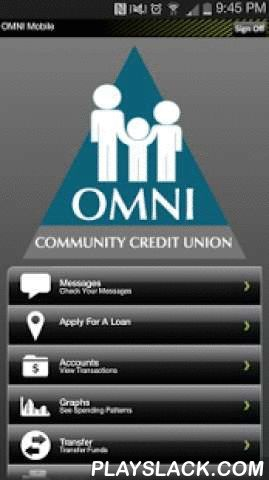 OMNI Mobile  Android App - playslack.com , OMNI Mobile Banking allows you to check balances, view transaction history, transfer funds, and pay loans on the go!Features:- Check Balances- View Transaction History- Transfer Funds- Pay Loans- Secure Messaging for support- Apply for a Loan- Bill Pay