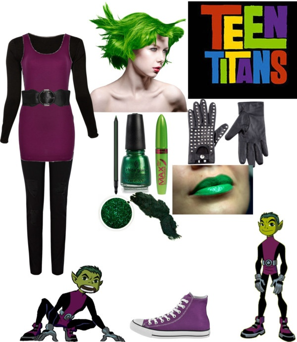 """""""Teen Titans: Beast Boy"""" by crystalline-switchblade ❤ liked on Polyvore"""