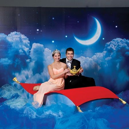 Magic Carpet Photo Scene-Perfect to go with your Arabian Nights or Aladdin Prom scene