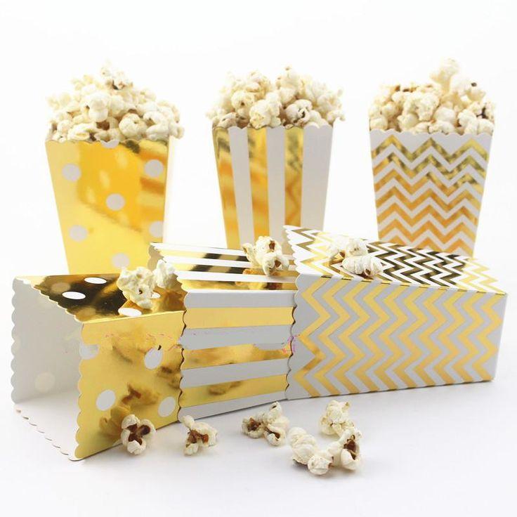 12 st Party Popcorn Dozen Goud/Zilver