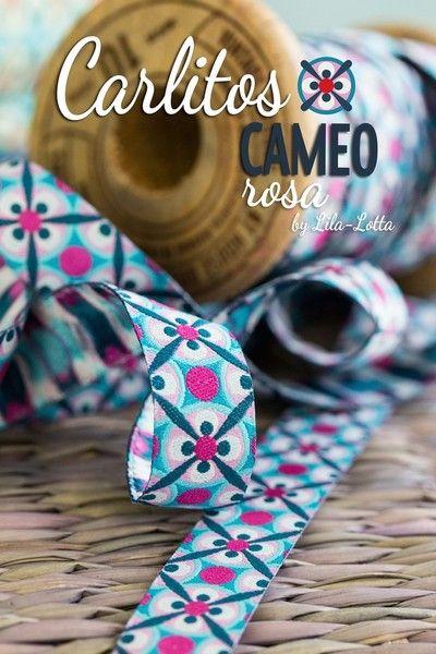 Webband,+Carlitos+CAMEO+rosa,+1m+von+Brittschens++auf+DaWanda.com