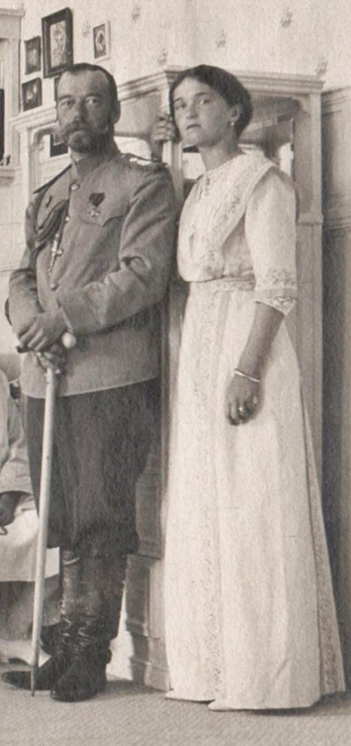 Nicholas and daughter Grand Duchess Olga
