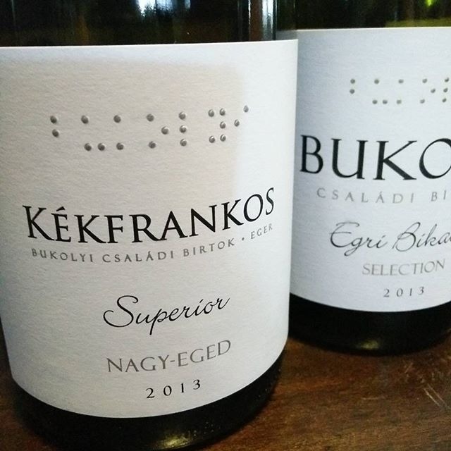 #kekfrankos and #bikaver are just two wines we tasted from #eger today from #bukolyi #winery in our #press #wine #club #wineglasscommunication #winemarketing #wine_pr