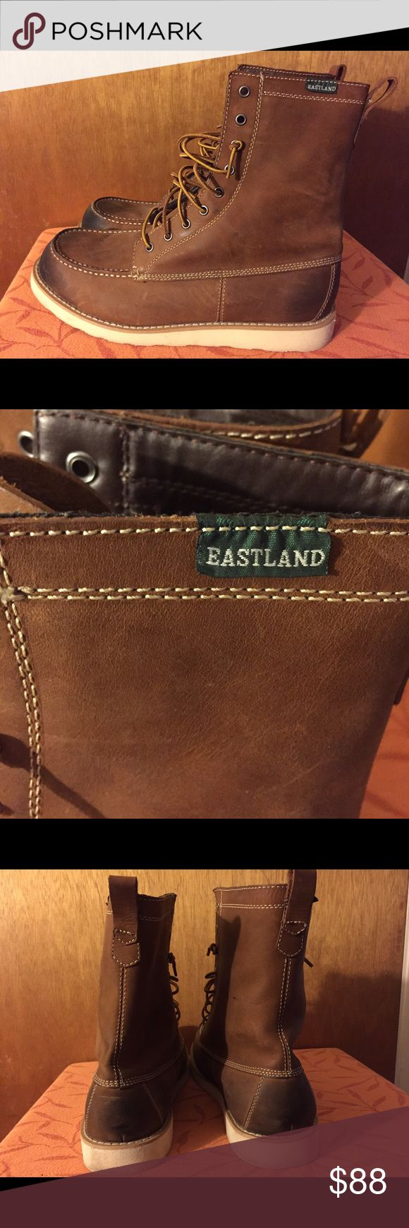 Men's Eastland Limited Edition Boots Size 13 Eastland Lumber Up Limited Edition Boots. Size: Men's 13 Color: Peanut  These are in like new condition. Worn once. These retail for $125.  Heel height: 1 inch  Toe height: 1/2 inch Eastland Shoes Boots