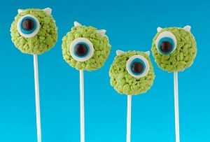 Green food coloring and a little candy turn Rice Krispies Treats® into delightful little monsters.