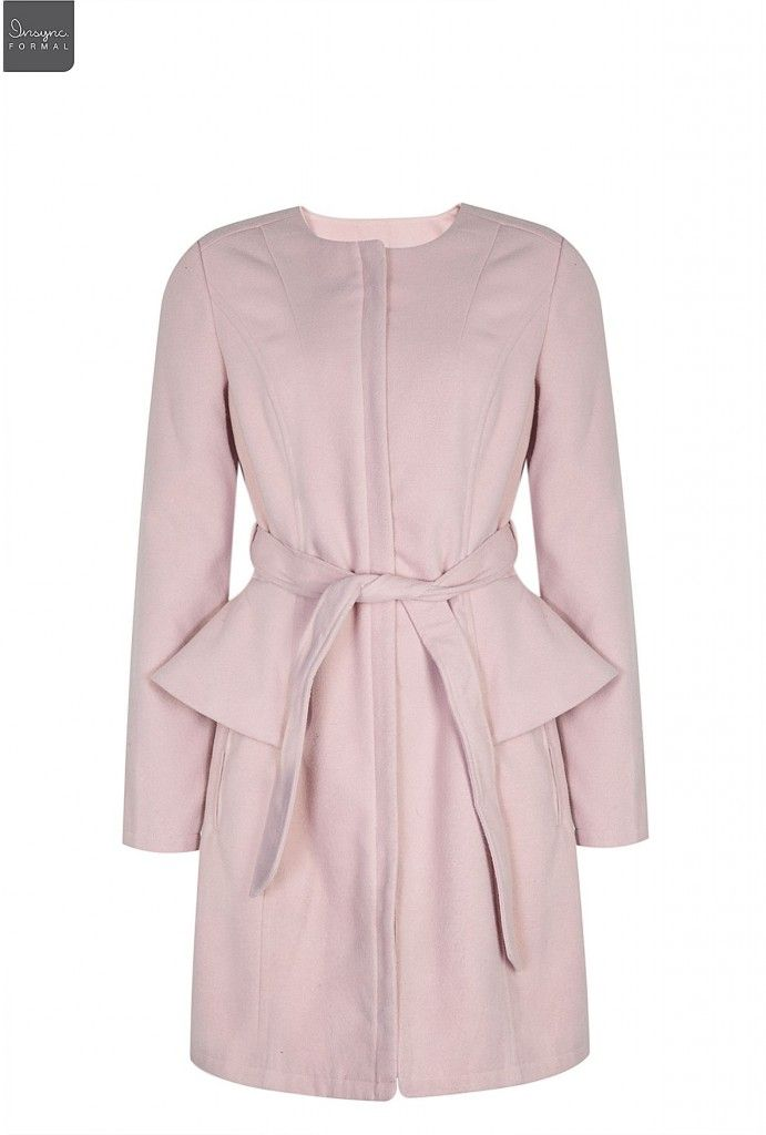Mr P pink peplum coat