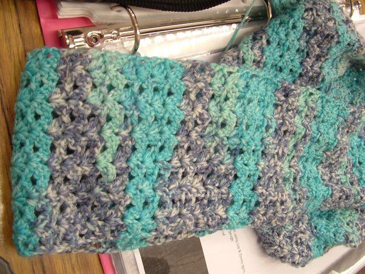crochet scarf---sock yarn My knits Pinterest Crochet ...