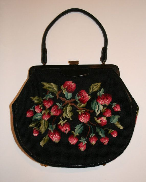 Vintage 1930s Petit Point Purse