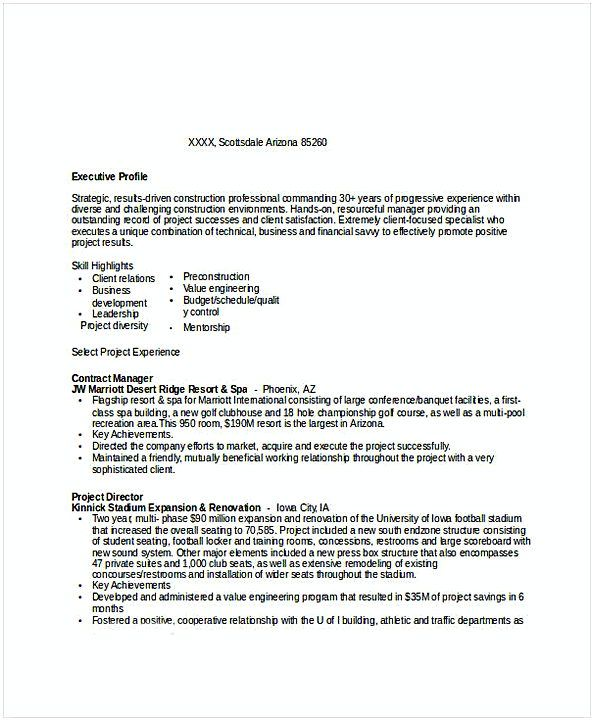 Construction Contract Manager Resume Resume For Manager Position Many Of Us Interested In Being Manager If You Are The Manager Position Resume Positivity