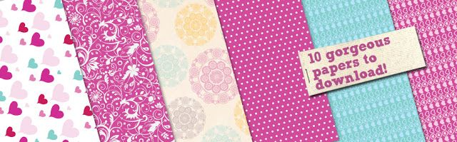by Elina's Arts and Crafts Tulostettavia kuviopapereita - Free patterned papers to download http://www.artsandcraftswithlove.com/