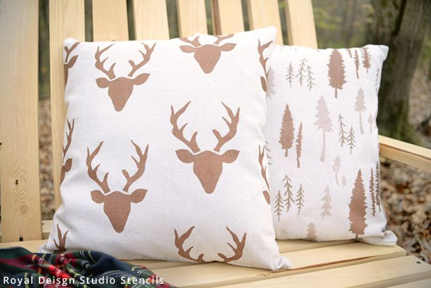 Easy DIY Painted Decorative Pillows Project - Outdoor ...