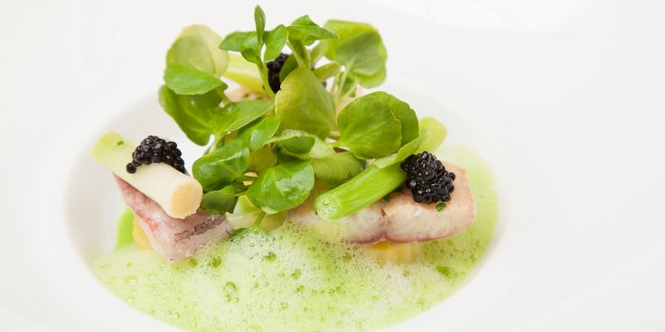 This beautiful smoked eel recipe makes a wonderful seafood starter fit for a dinner party. A luxurious caviar recipe pairing the rich flavour of smoked eel with a creamy watercress velouté and tender potatoes.