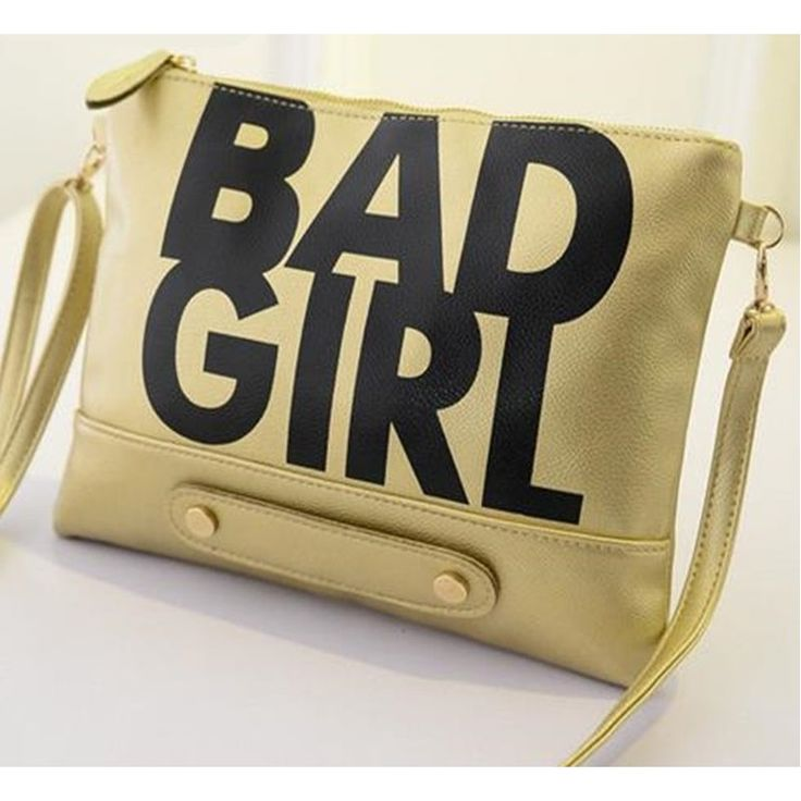 Trendy BAD GIRL letters handbag women shoulder bag,Factory Price,Worldwide Free Shipping!