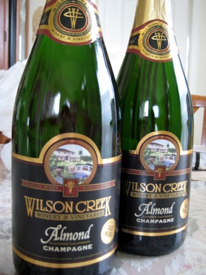 Wilson Creek Almond Champagne. Favorite champagne, if you like it sweet and not so dry. Delicious!