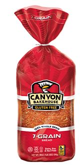 This Canyon 7-Grain gluten free bread is everything! I am not sure how it tastes so good but it tastes SOOO good and moist.