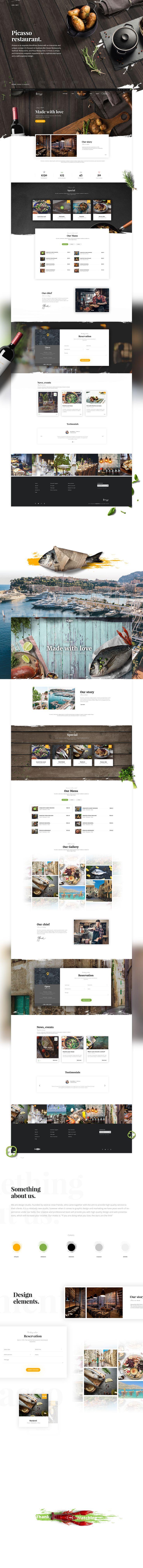 Ознакомьтесь с этим проектом @Behance: «Picasso restaurant - Web design» https://www.behance.net/gallery/55660711/Picasso-restaurant-Web-design