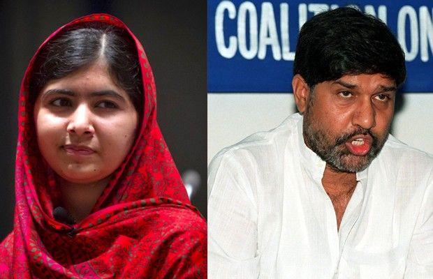 A paquistanesa Malala e o indiano Kailash Satyarthi, em fotos de 2014 e 1999, respectivamente (Foto: Reuters/AFP)