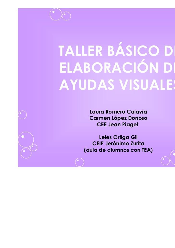 """""""Taller básica de elaboración de ayudas visuales"""" VIA SLIDESHARE"""