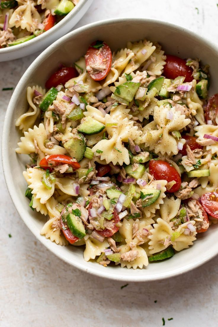 gesunder thunfisch nudelsalat pasta nudelsalat mit