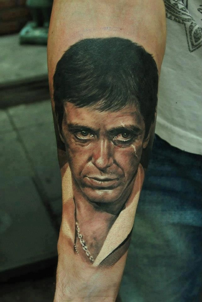 tony montana tattoo scarface pinterest montana