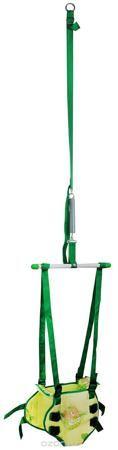 """Фея Тренажер-прыгунки 2 в 1 цвет зеленый  — 985р. -------------- Тренажер Фея """"Прыгунки 2 в 1"""" предназначен для развития опорно-двигательной системы и организации досуга ребенка в возрасте от 1 года и может использоваться в домашних условиях. Прыгунки - первый спортивный тренажер вашего малыша. Это приспособление на пружине, которое крепится в дверном проеме. Ребенок фиксируется в сиденье-штанишках и, отталкиваясь от пола, может прыгать или раскачиваться как на качелях. Прыгунки подарят…"""