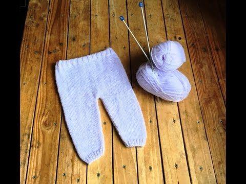 Tricot : Pantalon bébé facile tutoriel / Knitting Baby Pants easy - YouTube