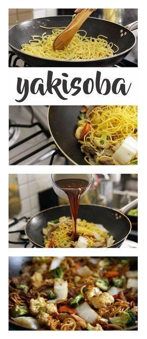 Receitinha maneira de Yakisoba! Com tudo que tem direito: molinho especial, carne, frango e muitos legumes!