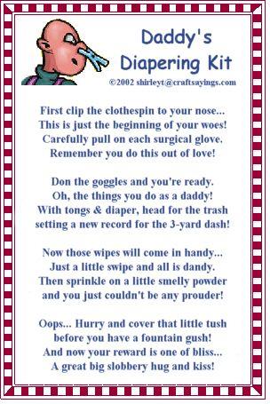 Daddy Diaper Tool Belt Poem | Daddy's Diapering Kit