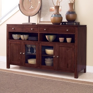 Transitional Asian Highland Park Merlot Finish Sideboard By Kincaid Furniture