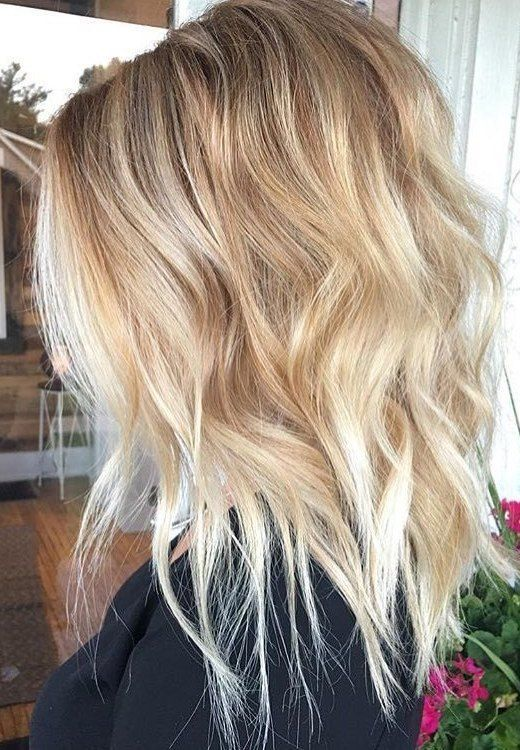 Wavy Lob Hair Styles u2013 Color & Styling Trends Right Now! Wavy lob hairstyle are not only easy to style, but also highly fashionable right now! It...