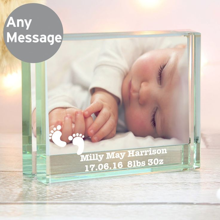 76 best personalised baby gifts images on pinterest bear photos personalised baby footprints photo frame a charming little glass frame for new baby birthday or christening negle Image collections
