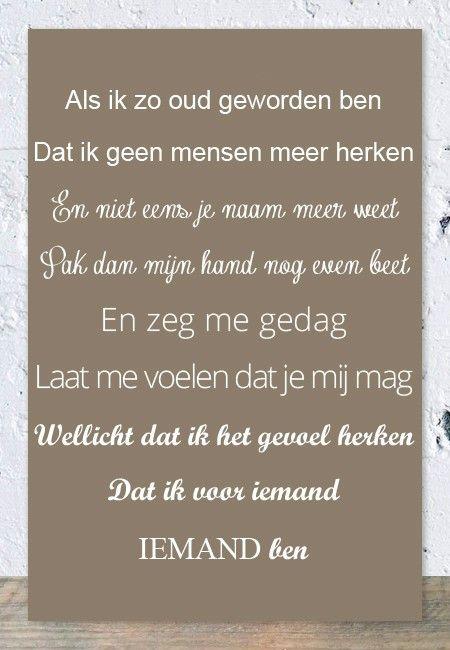 Tegeltjeswijsheid.nl - een uniek presentje - Spreukbord Als ik zo oud geworden ben (taupe)