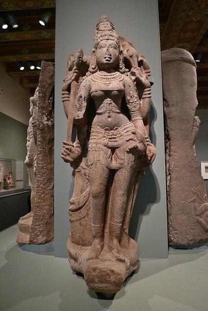 The Hindu deity Durga victorious over the buffalo demon - 11th century - Indian Art - Asian Art Museum of San Francisco by Marshall Astor - Food Fetishist, via Flickr