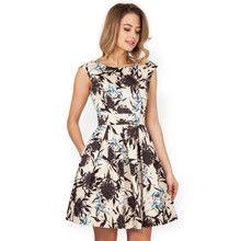 Closet Beige Floral Print Dress