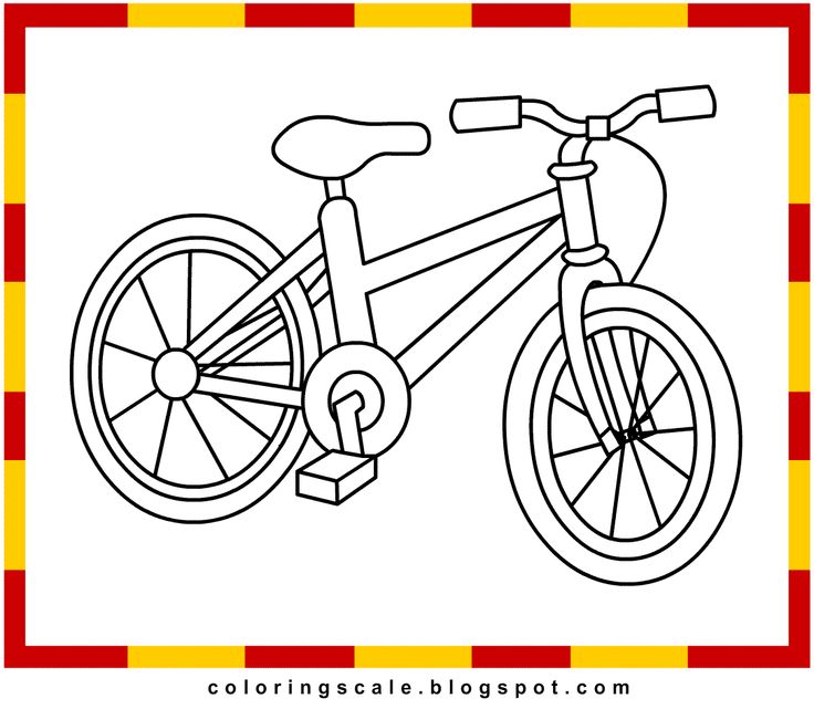 Free Bicycle printable coloring pages for kids Daal quot