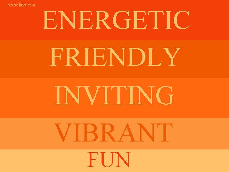 MEANING OF COLOR ORANGE