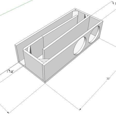Dual Hybrid Audio I6sw Subwoofer Tapered Transmission Line Enclosure Box Spl