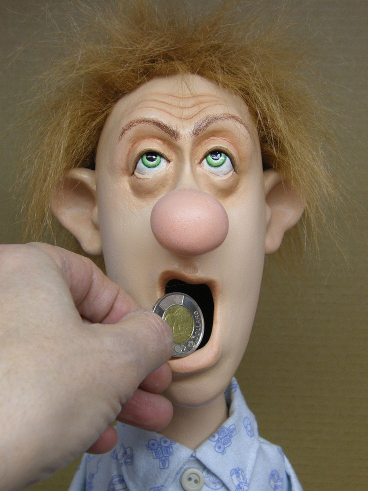 RESERVED    The yawning dude - handcrafted Piggy bank  Money box  Coin bank