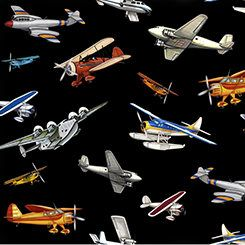 Aviation Fabric / Planes on Black Fabric by the yard / Airplane Fabric, Quilting Treasures 24753 Black  / Airplane Fat Quarters and Yardage by SewWhatQuiltShop on Etsy