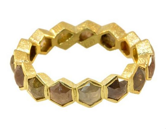 Hexagon Diamond Ring | Tayloe Piggott Jewelry