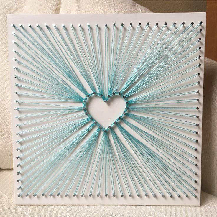 Heart Burst String Art, Love Wall Art, Home Decor, Valentine's Day, Christmas gi…