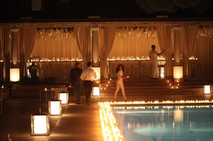 One of our favorite events we ever designed in capri. from a celebrity destination wedding