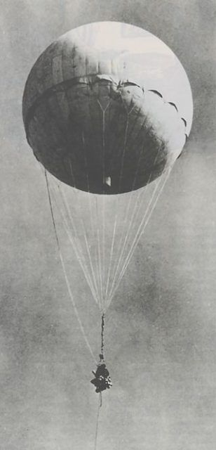 Japanese Fire Balloons: An Unprecedented WWII Weapon - A Japanese fire balloon that was found in California and shot down by the U.S. military