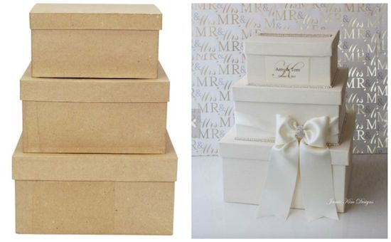 Beautiful DIY wedding card box