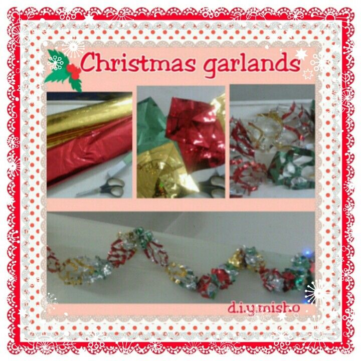 Quick tutorial Christmas garlands